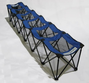 Folding Soccer Bench